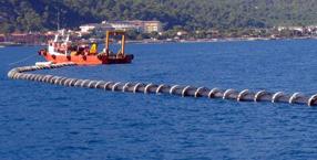 Deniz deşarj ve sualtı boru hatları